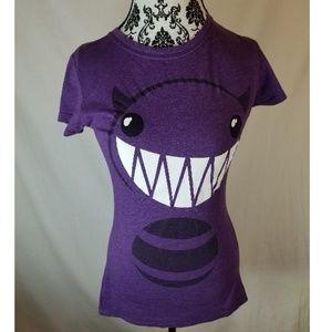 Purple Monster Graphic Tee Shirt Juniors X Large